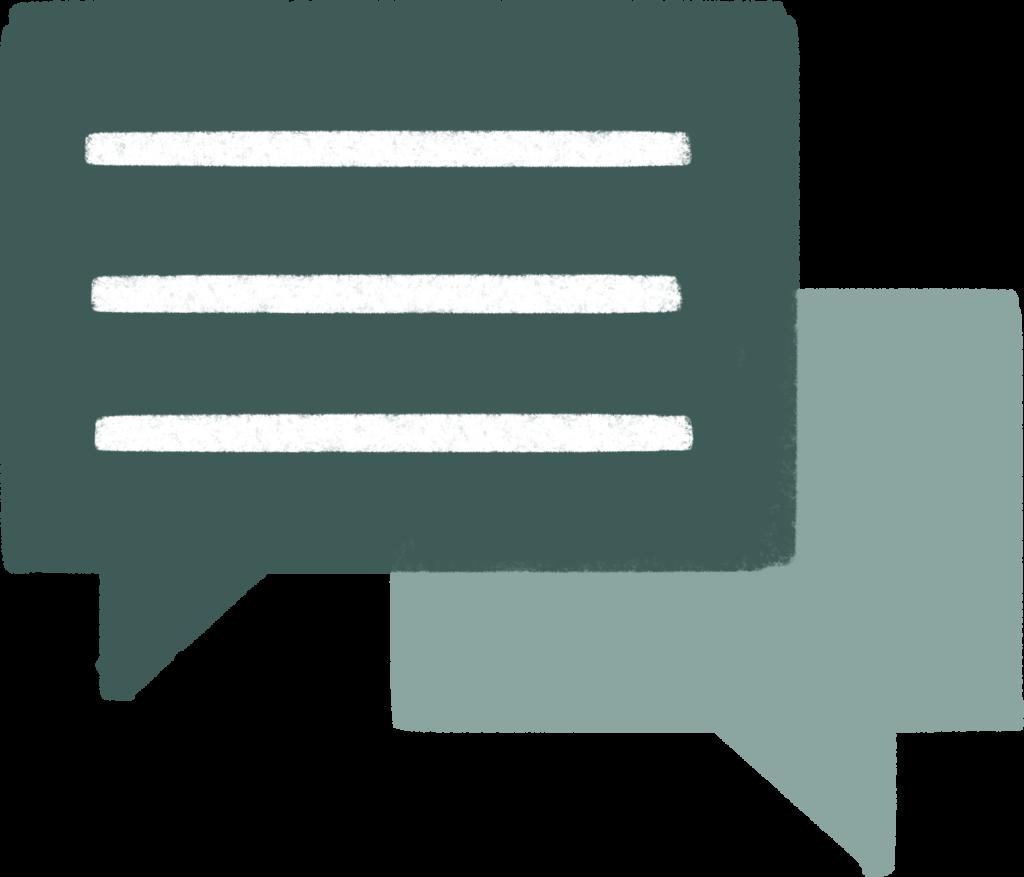 Redwoods Group - Speech Bubbles - Conversation